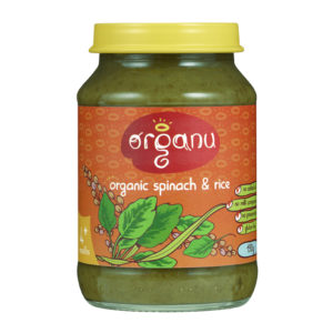 Jar - Organic Spinach & Rice - May 2016